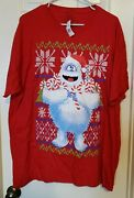 Adult Xl Abominable Snowman T-shirt Christmas Rudolph The Red Nosed Reindeer