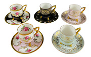Bavaria Germany Coffe Cups And Saucers Set Of 5