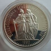 1990 Switzerland 50 Francs Winterthur Shooting Festival Silver Coin Proof