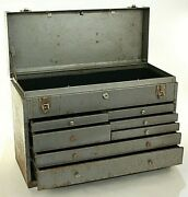 Vintage Kennedy Us Navy Government Issue 520 Machinist Mate 1963 Toolbox Chest 7