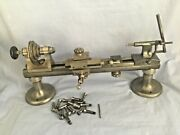 Watchmakers Lathe 2 Foot 8mm Ww Bed 17 Collets Cross Slide And Drilling Tailstock