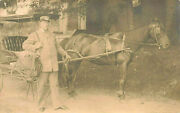 Bryant Pond Me R.f.d. Mailman Horse And Wagon 1909 Real Photo Postcard