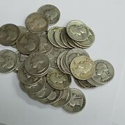 10 Face Value Roll Of 40 90 Silver Washington Quarters Various Dates Free Ship