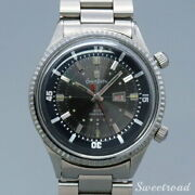 Orient Surfin Diver Early Model 40m Boys Original Gray Dial Manual Winding Watch
