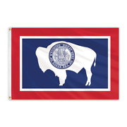 Global Flags Unlimited 200743 Wyoming Outdoor Nylon Flag 12and039x18and039