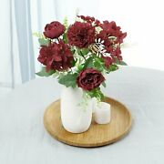 2 Pack - Silk Peony Bouquet, Artificial Flowers For Vases - 12 Tall For Diy