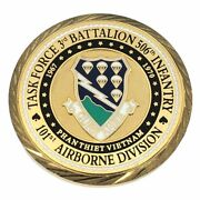 Task Force 3rd Battalion Challenge Coin 506th Infantry Long Range Recon Patrol