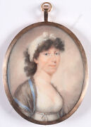 Louis-ami Arlaud-jurine Portrait Of A Young Lady High Quality Miniature