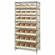 Quantum Storage Systems Wr8-423 Stackable Shelf Bin Steel Shelving Systems