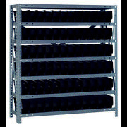 Quantum Storage Systems 1239-100 Steel Shelving With Plastic Bins
