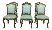 L32962ec Set Of 6 Karges French Louis Xv Style Dining Room Chairs