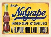 Bathroom Wall Decor Drink Nugrape A Flavor You Cant Forget Metal Tin Sign