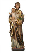 Saint Joseph Statue Wood Carved Made In Italy