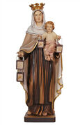 Our Lady Of Mount Carmel Statue Wood Carving