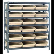 Quantum Storage Systems 1239-109 Steel Shelving With Plastic Bins