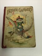 Vintage Father Ganderand039s Children Book/rhymes Mother Goose/1898 Rare Chromos/look