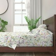 Wild Flower Wild Flowers Floral Spring 100 Cotton Sateen Sheet Set By Roostery