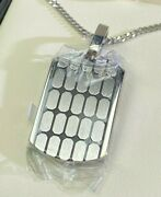 Fred Meyer Jewelers Mens Steel Dogtag Chip Pendant Chain 24 Necklace Portland
