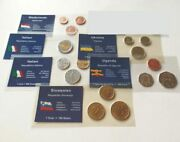 Mix Of Coins From Different Countries Italy Netherlands Uganda Ukraine Slovenia