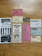 Pennsylvania Railroad Tickets And Pamphlets Old Nice Memorabilia
