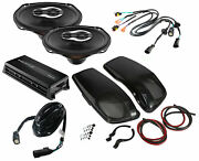 Sx690neo Speakers + Replacement Lid Package W/ Hmp4d Amp For 14-21 Harley