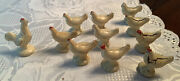 Arcor Safe Play Toys Early Hard Rubber 1940s Rooster And Flock Of Hens