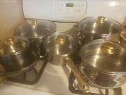 Large Set Of Chefs Secret Professional Series Stainless Steel Pots And Frying Pans