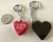 Lot Of 2 I Love You Hearts Love Keychains Keyrings 34433
