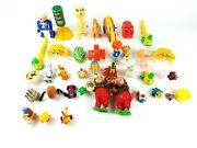 Vintage Wind Up Lot Of 40 Animals Characters Toys Collectibles