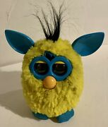 2012 Hasbro Furby Boom Yellow Turquoise Blue + Black Hair Tested Works Great Htf