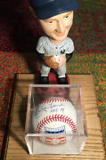 Whitey Ford Hof 74 Signed Autographed Baseball And Bobblehead 2 Signatures