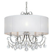 Crystorama 6625-ch-cl-saq Othello 5 Light Clear Spectra Crystal Polished Chrome