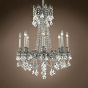 Joshua Marshal 701596-051 Versailles 8 Light 24 Pewter Chandelier With Clear