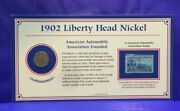 1902 Liberty Head Nickel And Stamp American Automobile Association Founded [3101]