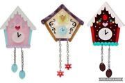 Erstwilder The Christmas Clocks Brooch Collection X 3. Bnib. Limited. Sold Out