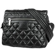 Cocococoon Small Coco Mark Messenger Bag Shoulder Nylon Black Women And039s