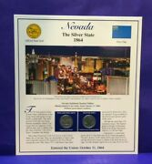 2006 Statehood Quarters And Stamp Nevada The Silver State [3214]