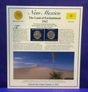 2008 Statehood Quarters And Stamp New Mexico The Land Of Enchantment [3225]