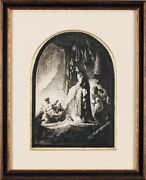 Rare 18th Century Old Prints Rembrandt The Resurrection Of Lazarus Copperplate