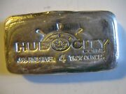 Low Serial 0003 Hand Poured Hub City Coins 4oz .999 Fine Silver Bar