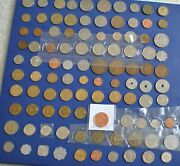 100 World Coin Collection All Different Uk Penny Sets Africa Sets We Germany