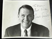 Frank Sinatra Orig Vintage Hand Sign Autograph Photo Sign In The 70s