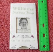Vintage Jb Williams Co Shaving Soap Yankee Mans Changing Face Puzzle Advertising