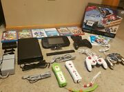 Nintendo Wii U Mario Kart 8 Deluxe Set W/ 6 Games Luigi And Toad Controllers And Mor