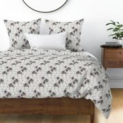 Animals Garden Dog Keeshond Pastel Flowers Sateen Duvet Cover By Roostery