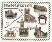 Map And Sights Of Manchester - Classic 14ct Counted Cross Stitch Kit