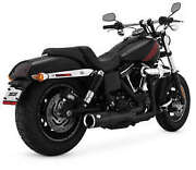 Vance And Hines Hi-output Shrt 2 Into 1 Blk 46541