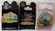 Stitch Pins Groundhog Day 2005 Spring Break 2007 Easter 2013 Disney Lot Of 3 New