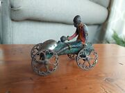 Antique Cast Iron- Monkey And Coconut- Pull Bell N.n.hill Brass Co