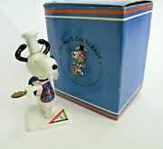 Westland-peanuts On Parade-baker Snoopy Figurine Box Charles Schulz Charity Ds08